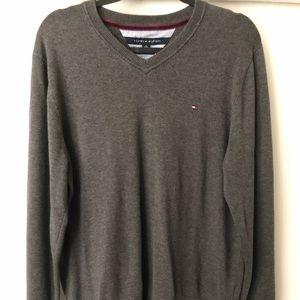 Tommy Hilfiger-V Neck Pullover Sweater Mens XL